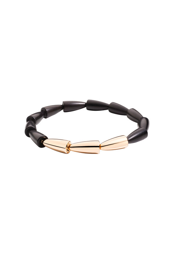 Vhernier 18K Pink Gold & Ebony Calla Necklace
