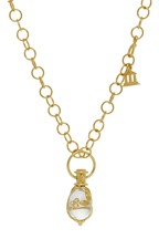 Temple St. Clair - Yellow Gold Vine Rock Crystal Amulet