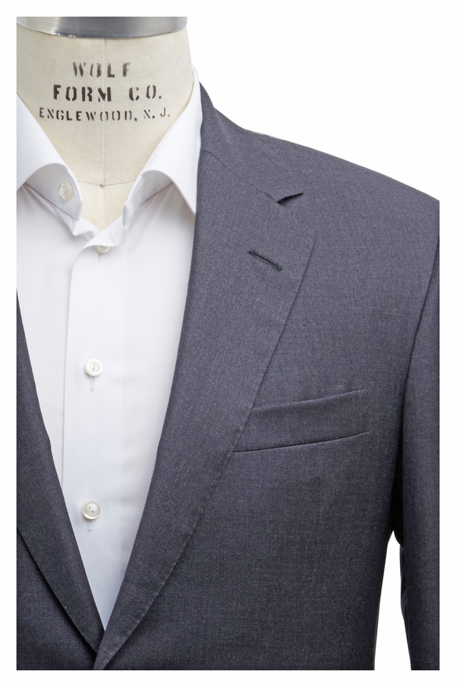 Capital Solid Gray Wool Suit