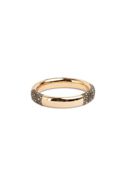 Pomellato - Pink Gold Brown Diamond Tango Bangle Bracelet