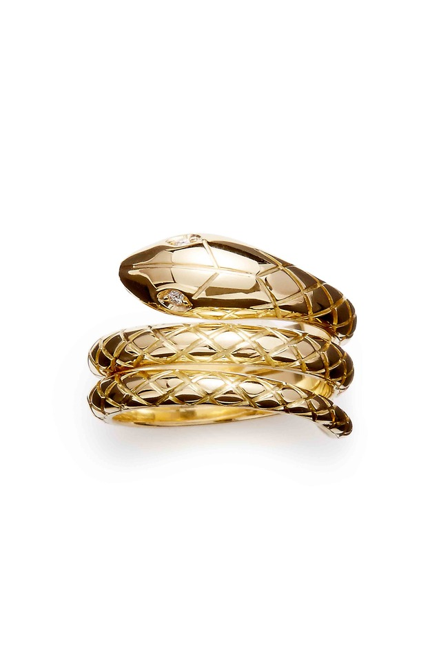 Yellow Gold Double Serpent Ring