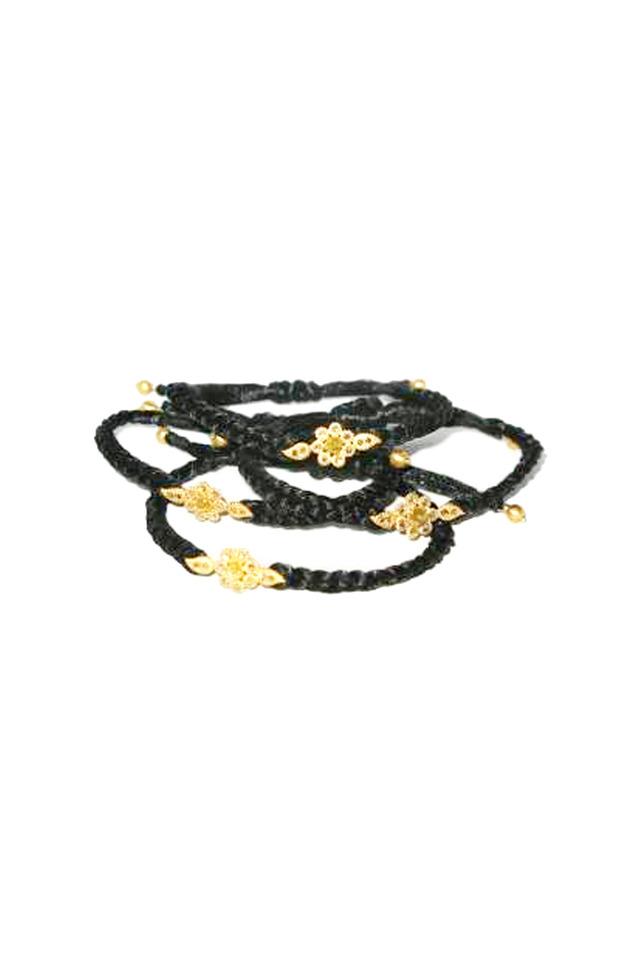 Silk Braided Cord Diamond Center Bracelet