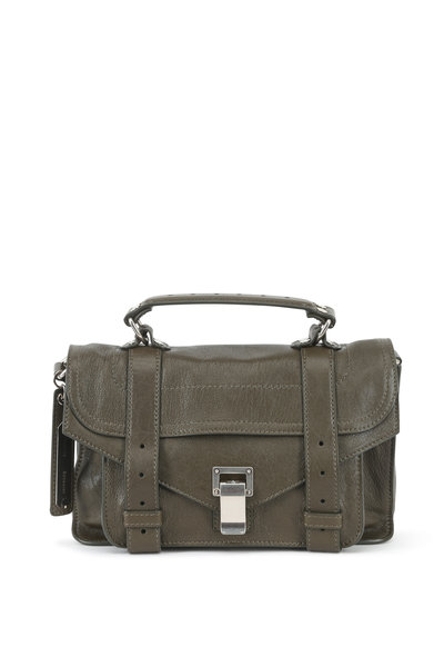 Proenza Schouler - PS1 Tiny Military Green Leather Crossbody