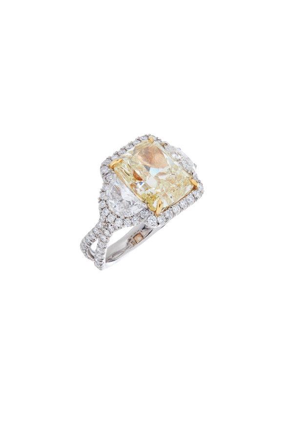 Louis Newman Yellow Fancy Bridal Ring