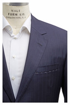 Oxxford Clothes - Capital Navy Blue Striped Wool Suit