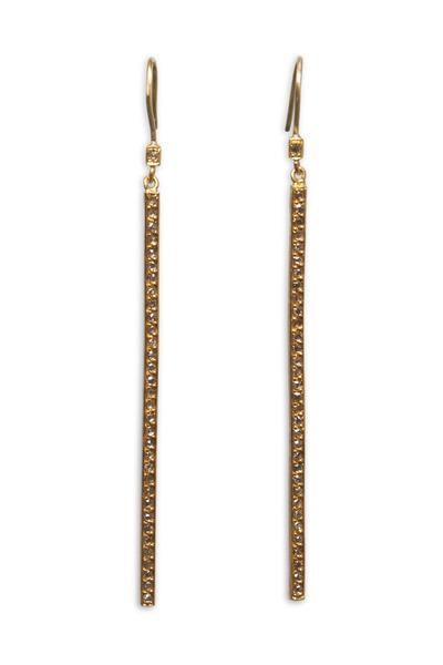 Yossi Harari - Yellow Gold Stick Earrings