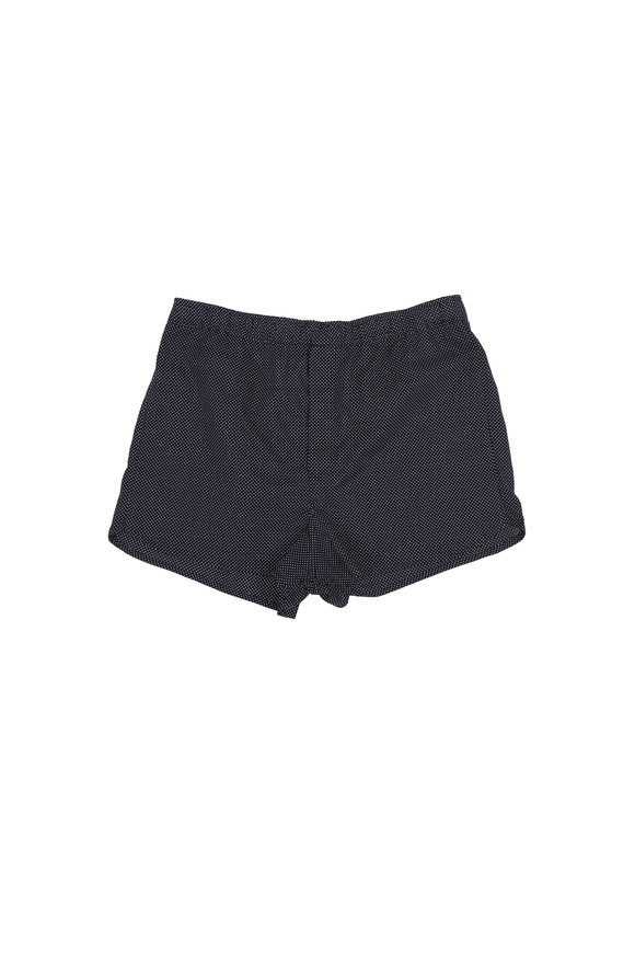 Derek Rose Navy Blue Pin Dot Modern Fit Boxers