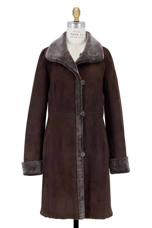 Viktoria Stass Brown Brisa Shearling Coat