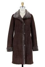 Viktoria Stass - Brown Brisa Shearling Coat