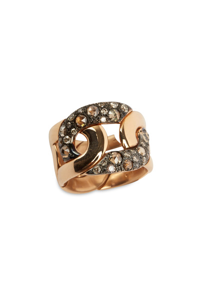 Pomellato - Pink Gold & Burnished Silver Tango Diamond Band