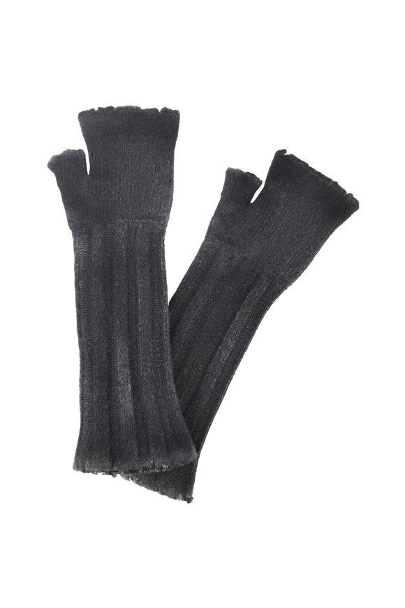 Avant Toi Stone Wool & Cashmere Fingerless Long Gloves