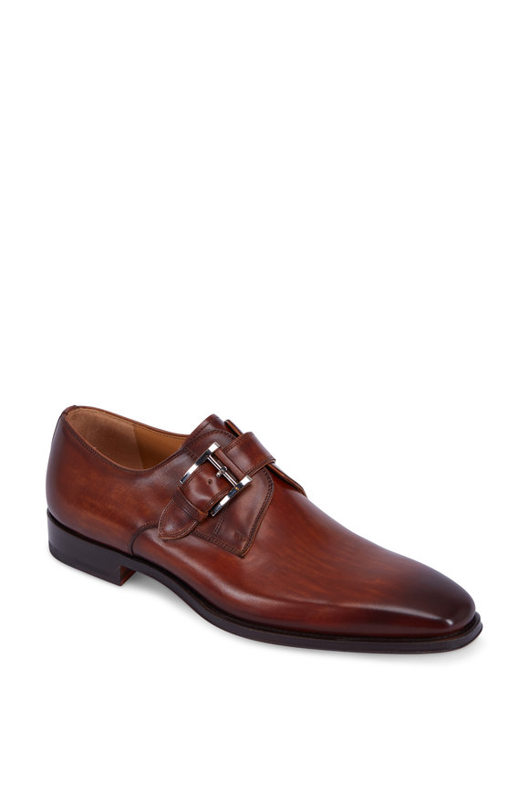 Magnanni Marco Brown Leather Single Monk Strap Dress Shoe