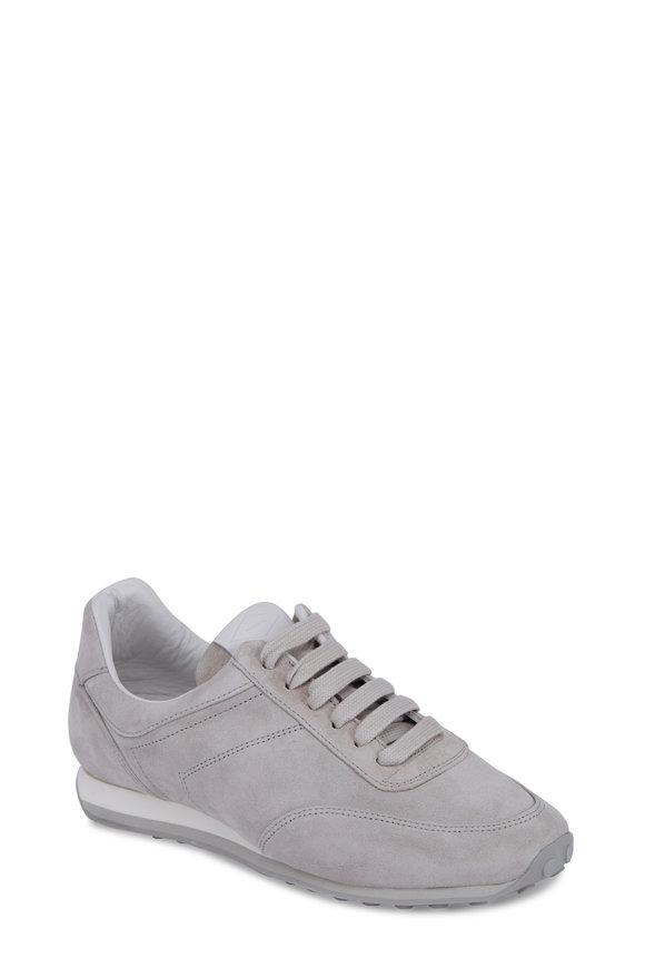 Rag & Bone Dylan Light Grey Suede Low Top Sneaker