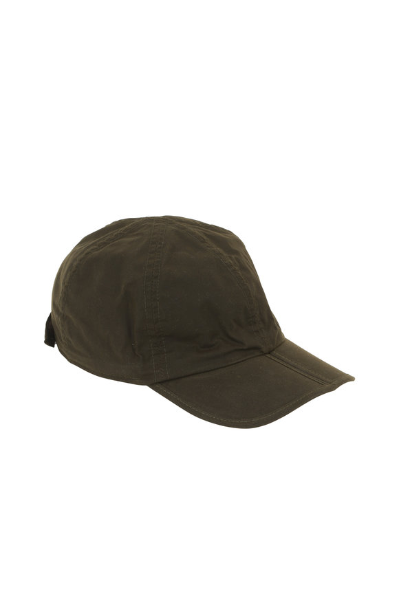 Wigens Olive Green Waxed Cotton Cap