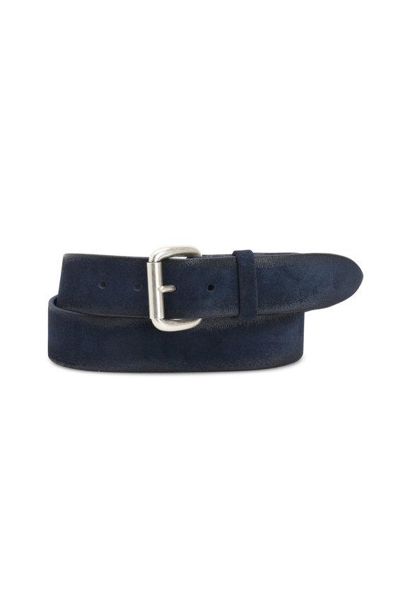 Orciani  Dark Blue Suede Belt