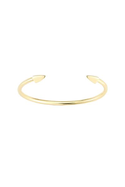 Elizabeth & James - Bauhaus Gold Plate Small Pyramid Cuff Bracelet