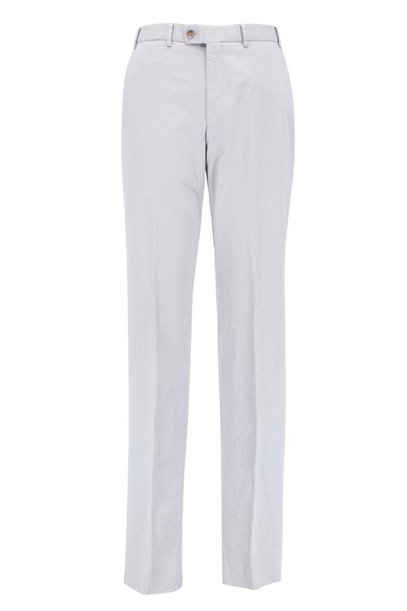 Hiltl Dayne Light Gray Stretch Cotton Twill Pant