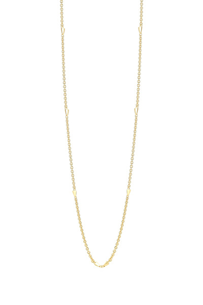 Elizabeth & James - Bauhaus Spike Station Gold Plate Chain Necklace