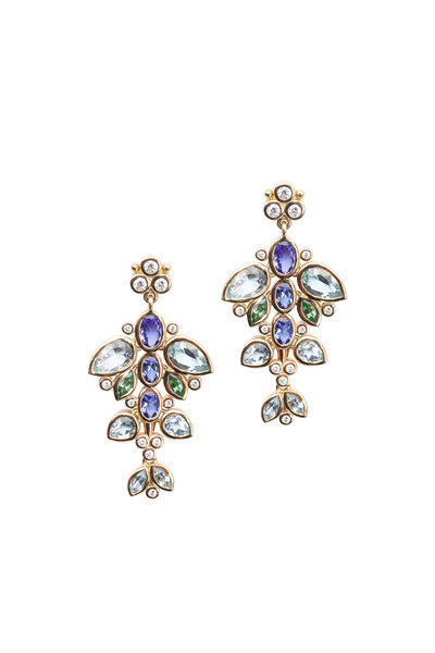 Temple St. Clair - Yellow Gold Flying Fish Earrings