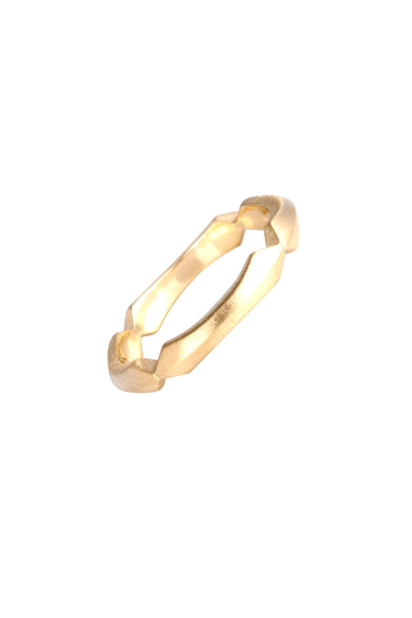 Sylva & Cie 18K Yellow Gold Knife Edge Band