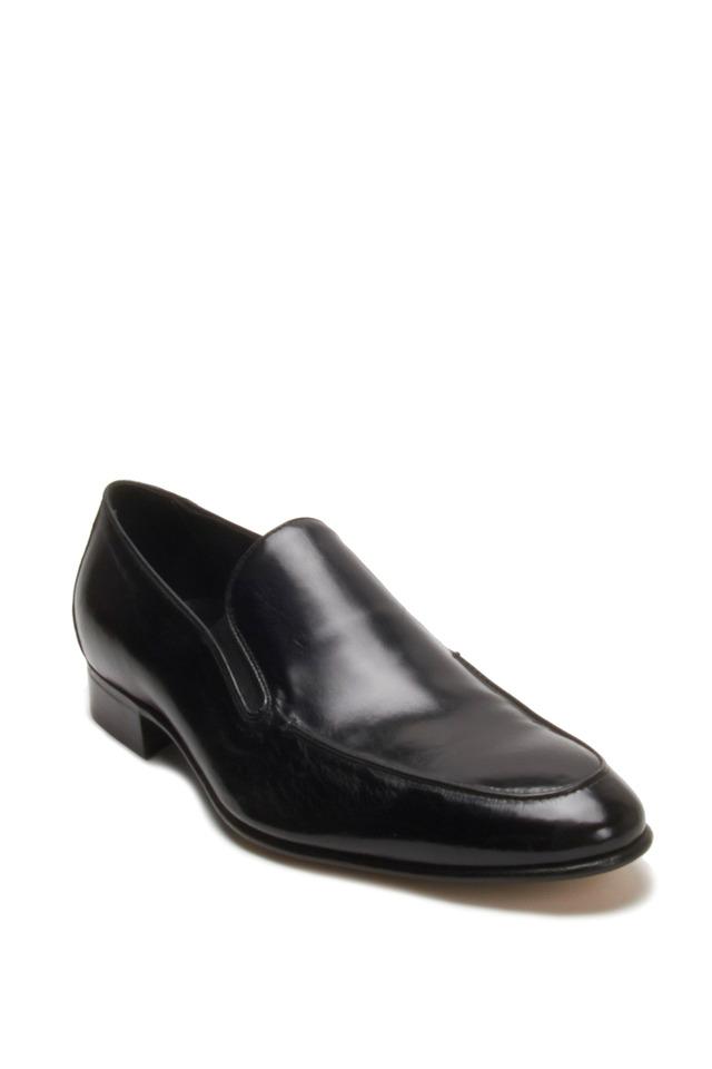 Black Leather Slip-On Loafer