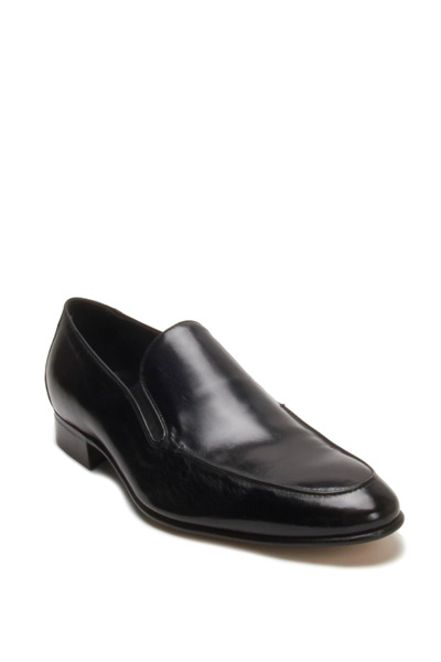 Gravati - Black Leather Slip-On Loafer
