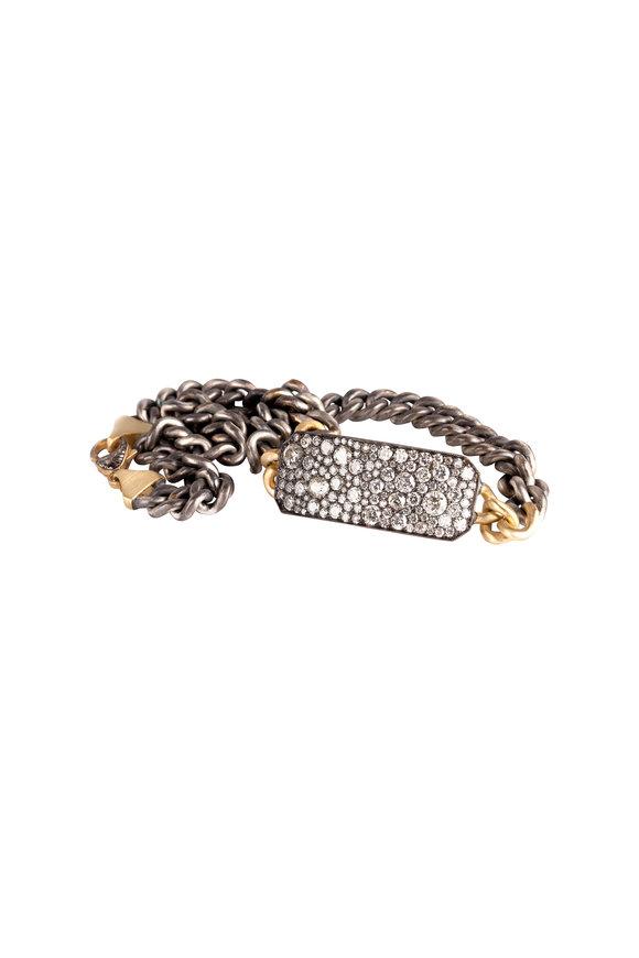 Sylva & Cie 18K Gold Diamond Ten Table Bracelet