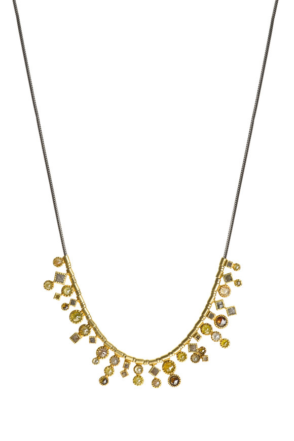 Todd Reed 18K Yellow Gold & Silver Diamond Mosaic Necklace