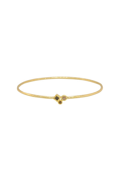 Todd Reed - 18K Yellow Gold Diamond Bangle