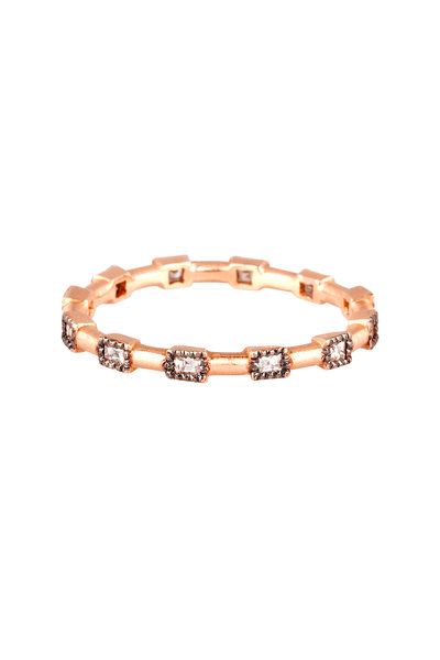 Sylva & Cie - 14K Rose Gold Diamond Band