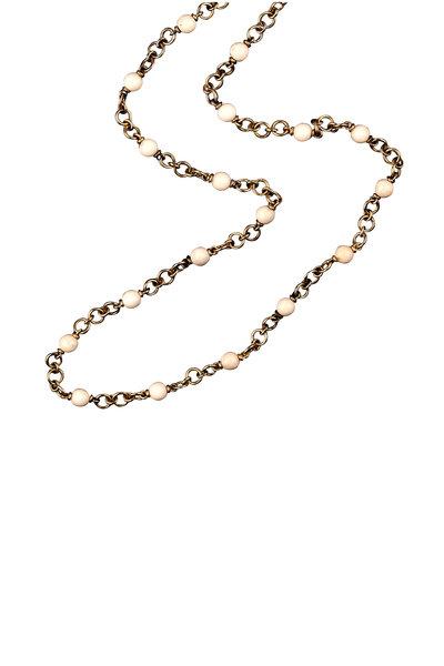 Sylva & Cie - 18K Yellow Gold Mammoth Bead Necklace