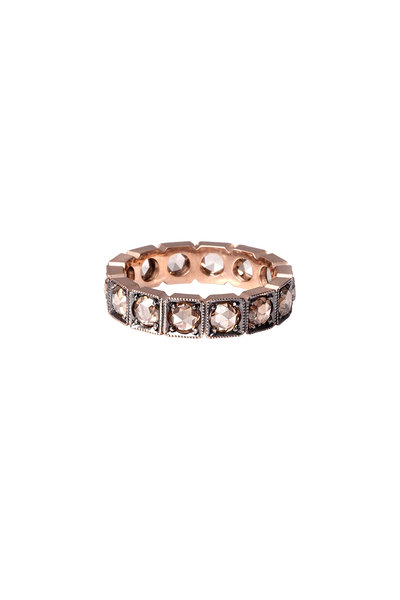 Sylva & Cie - 14K Rose Gold Champagne Diamond Band