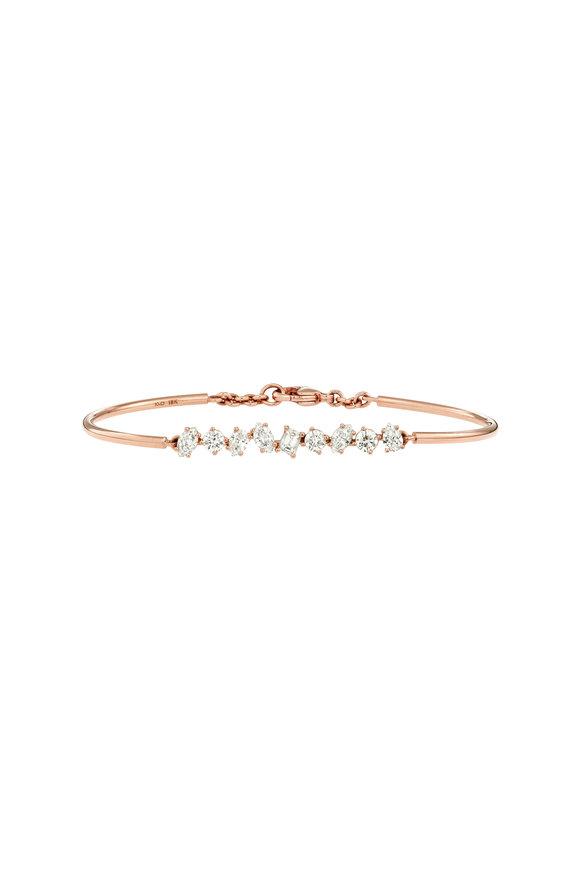 Kimberly McDonald 18K Rose Gold Diamond Bar Bangle