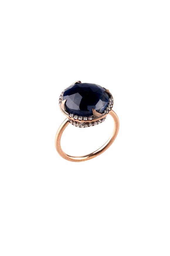 Sylva & Cie 14K Rose Gold Sapphire & Diamond Ring