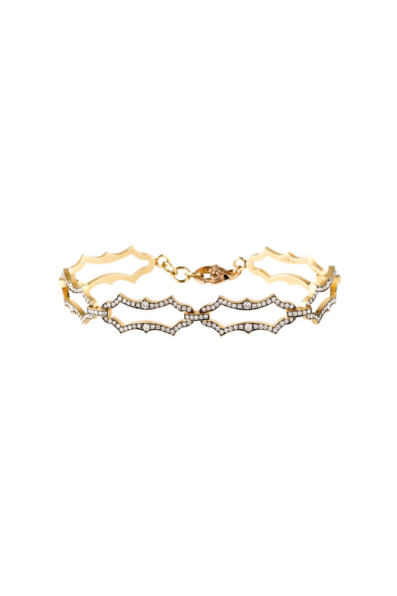 Sylva & Cie 18K Yellow Gold Diamond Bracelet