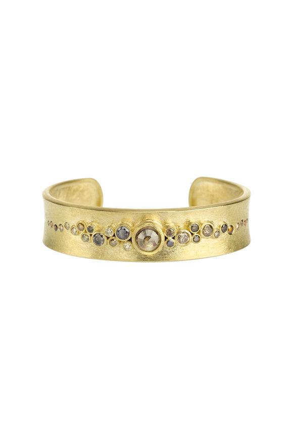 Todd Reed 18K Yellow Gold Diamond Cuff Bracelet