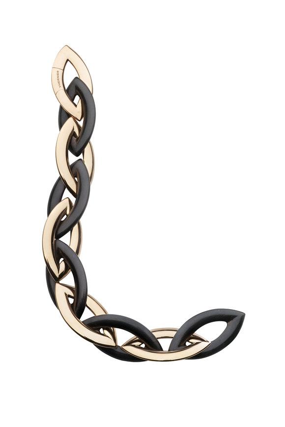 Vhernier 18K Rose Gold & Ebony Doppio Senso Bracelet