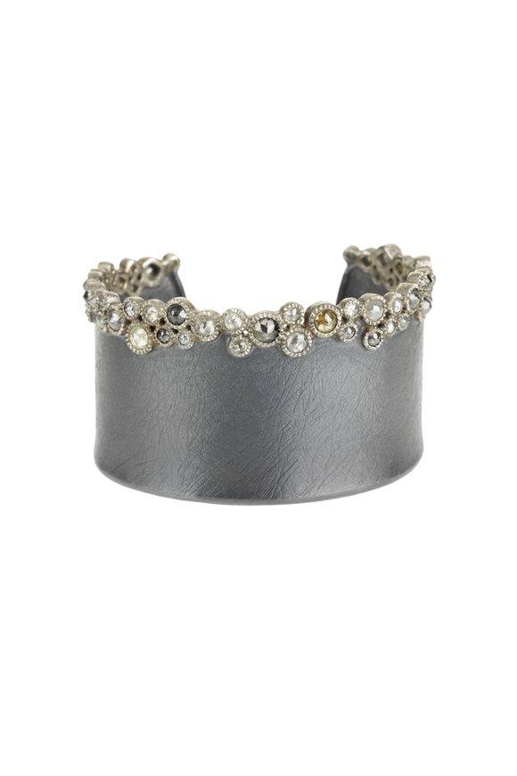 Todd Reed Silver & Palladium Raw Diamond Cuff Bracelet