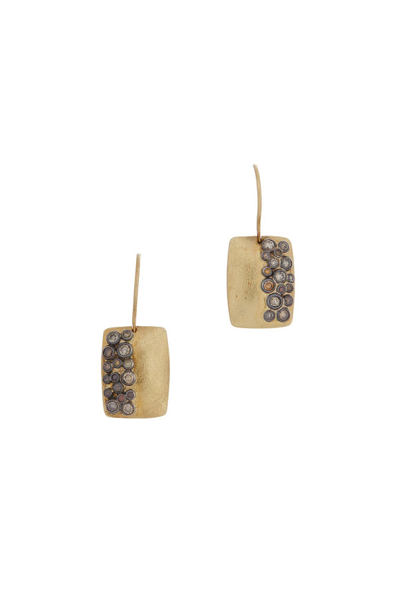 Todd Reed 18K Yellow Gold & Silver Rectangular Drop Earrings