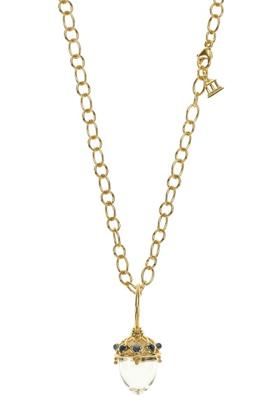 Temple St. Clair - Yellow Gold Crystal Amulet Pendant