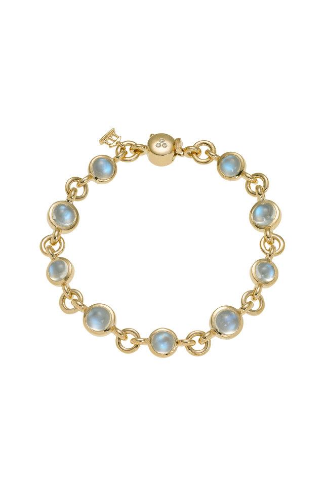 Classic Jean d'Arc Moonstone Diamond Link Bracelet