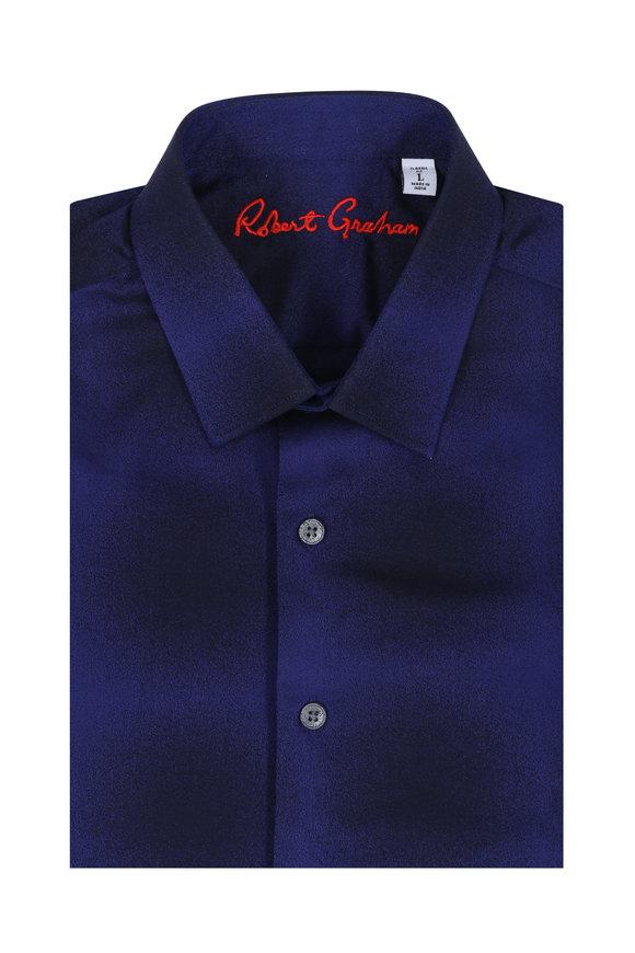 Robert Graham Dark Energy Purple Classic Fit Sport Shirt