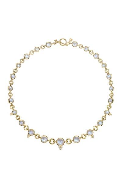 Temple St. Clair - 18K Gold Moonstone & Diamond Jean d'Arc Necklace