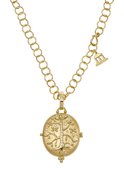 Temple St. Clair - Yellow Gold Tree Of Life Diamond Locket