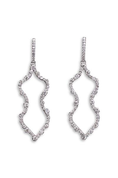 Kimberly McDonald - White Gold Irregular Diamond Outline Earrings