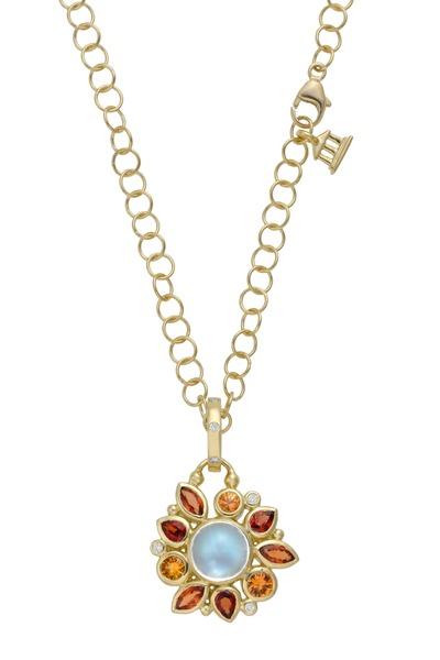Temple St. Clair - Anima Yellow Gold Sapphire & Moonstone Pendant