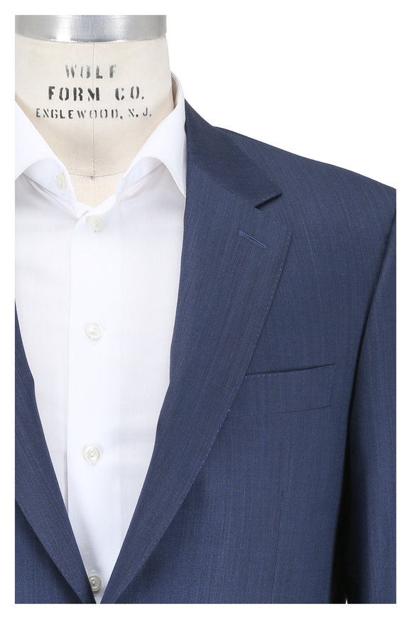 Canali Blue Wool Suit