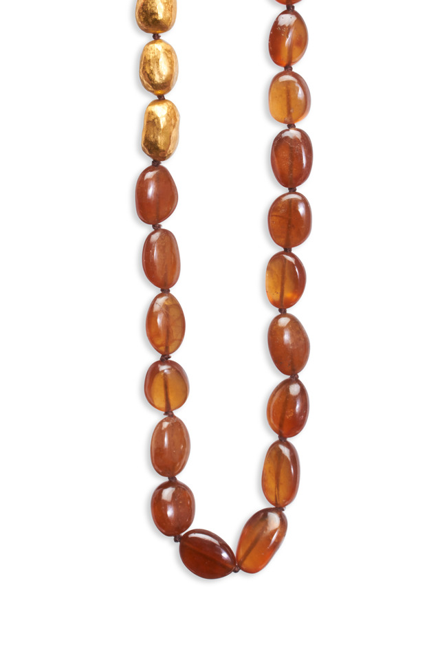 Yellow Gold Hessonite Garnet Necklace