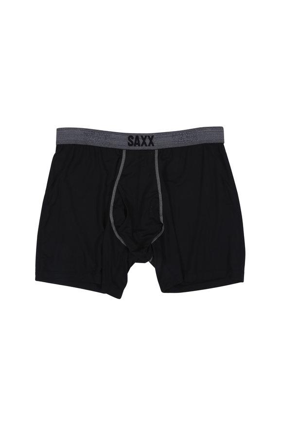 Saxx Underwear Platinum Black Boxer Brief