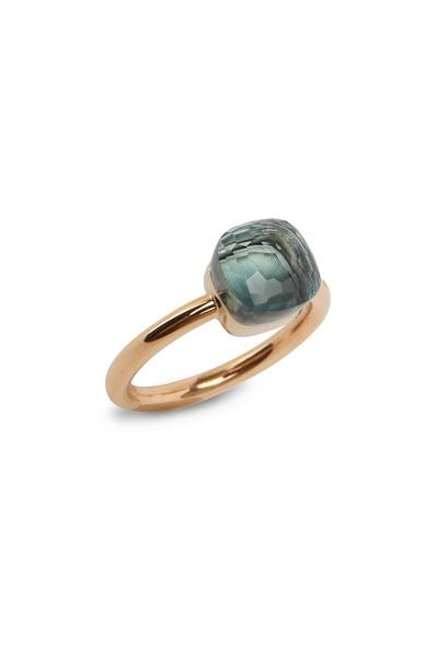 Pomellato - Pink Gold Small Blue Topaz Ring